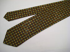 Santostefano Italy 100% Silk Neck Tie from Syd Jerome - Brown/Gold/Teal/Black