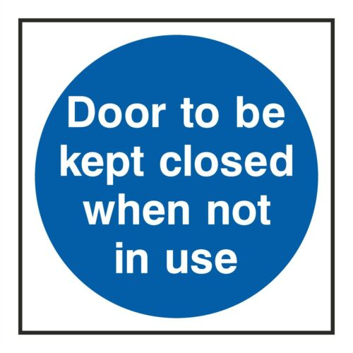 1x DOOR TO BE KEPT CLOSED WHEN NOT IN USE Warning Sticker for Hotel Motel Bumper