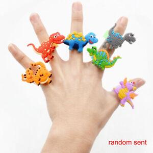 6Pcs-Flexible-Colorful-Children-PVC-Rubber-Cartoon-Soft-Dinosaur-Ring-Kids-Toy