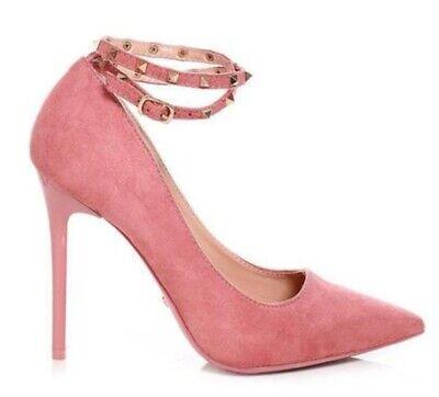 dark pink ankle strap heels uk size 4