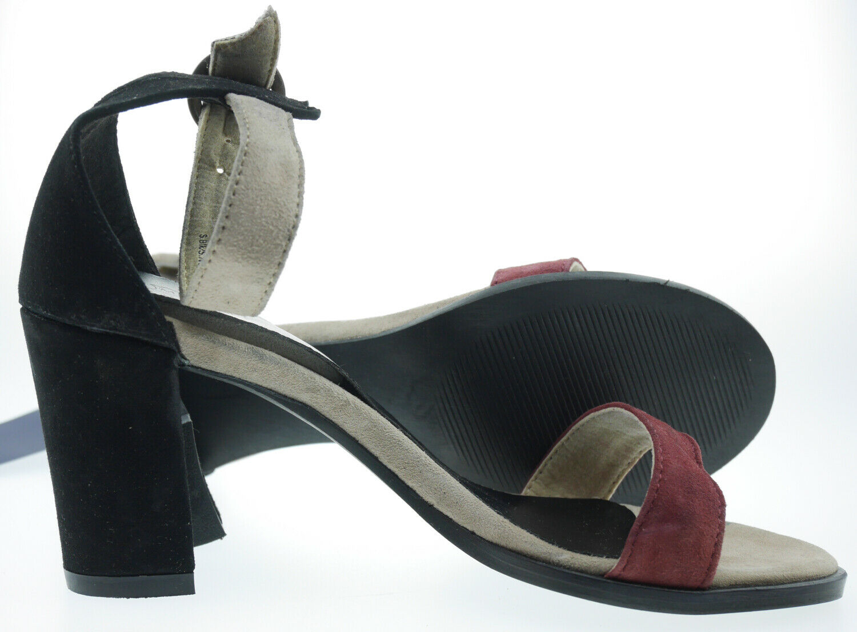 202385 Manoukian Leder Sandalen schwarz EUR 41
