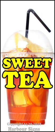 Concession Food Truck Vinyl Sign Sticker Sweet Tea DECAL Choose Your Size