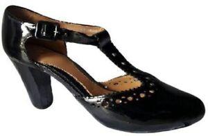 09 Reino de Nn de 8 Clarks Js181 negros Unido tacón Zapatos patente Eu 42 Dollar del Band ZzYqZaxwT