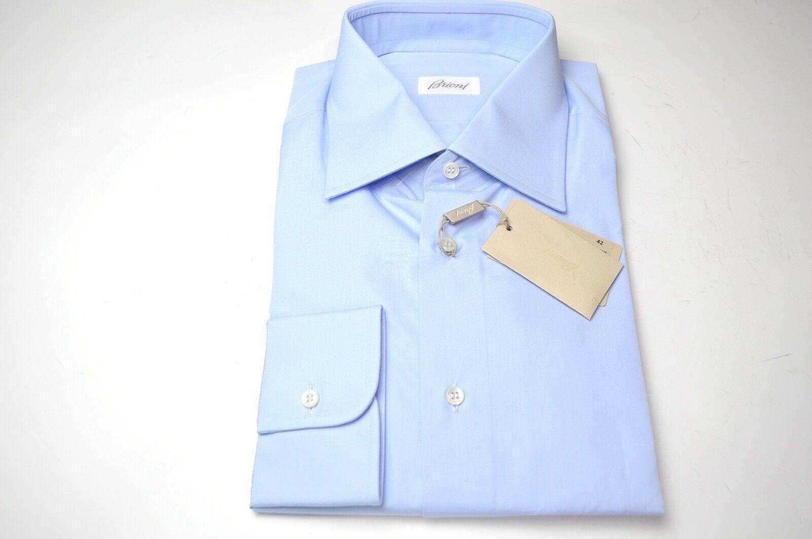 NEW  BRIONI Dress  hemd 100% baumwolle Größe 17 Us 43 Eu  (ARA140)
