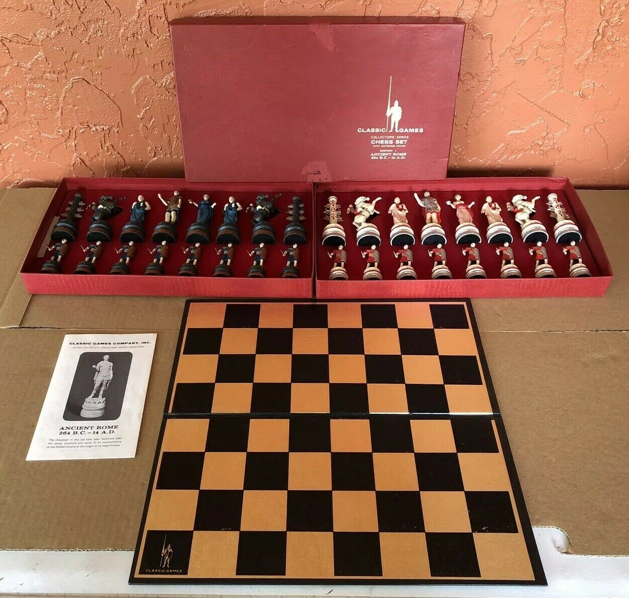 Classic Games Collector's Series Chess Set Ancient Rome Hand Painted Edition I