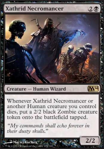 Xathrid Necromancer Nécromancien de Xathrid x1 MTG Magic M14 English//VO