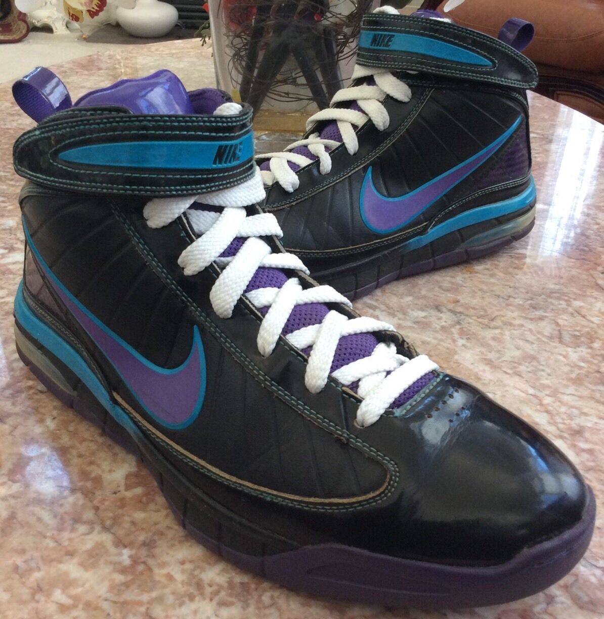Nike Air Max Rise Supreme Orleans Hornets David West PE Size 11.5, 398261-002