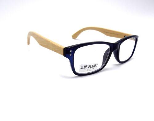 READING EYE GLASSES Eco Friend Rosewood BLUE PLANET Designer Men Women 1.50 Blue