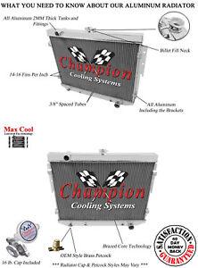 1973-1974 Dodge Charger Aluminum 3 Row Champion Radiator