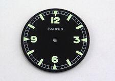 Parnis 36mm  Green luminous Black dial fit ETA 6497 Seagull st36 movement
