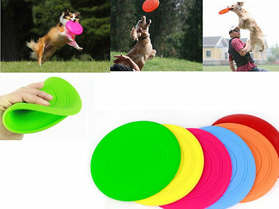 GRA Dog Frisbee Flying Disc Tooth Resistant Outdoor Large Dog Training Fetch Toy