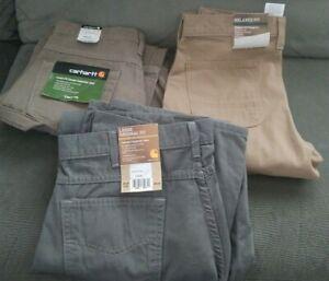 Carhartt-Carpenter-Jean-Loose-or-Relaxed-Dungaree-Pants-Brown-Charcoal-or-Khaki