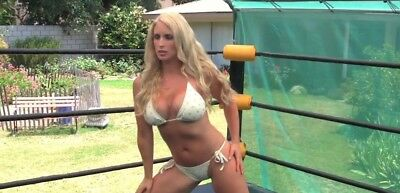 vs white wrestling Red bikini