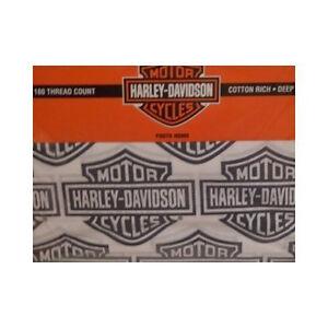 HARLEY-DAVIDSON-034-FIREBALL-034-TWIN-SHEET-SETS-Cotton-Poly-Blend