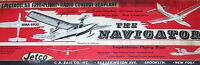 "Vintage NAVIGATOR 52"" RC TWO Model Airplane PLANS + Article & Parts Patterns"