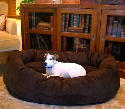Majestic Pet Bagel Dog Pet Bed - Several Suede Colors and Sizes