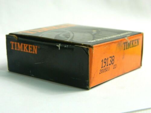TIMKEN 19138 TAPERED ROLLER BEARING SINGLE CONES IMPERIAL 200501 22