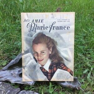 Votre-Amie-Marie-France-N-146-2-Septembre-1947-Ancien-Magazine-Francais