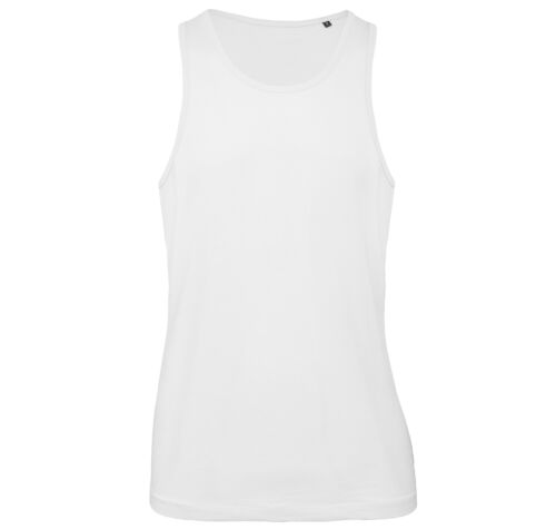 B/&C Collection Mens Inspire Cotton Vest TM072 Plain Sleeveless Sports Gym Tank