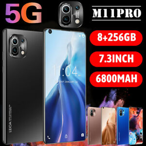"M11 Pro 7.3"" visage ID Fingerprint Smartphone Android 10.0 8+256GB 6800 mAh téléphone"