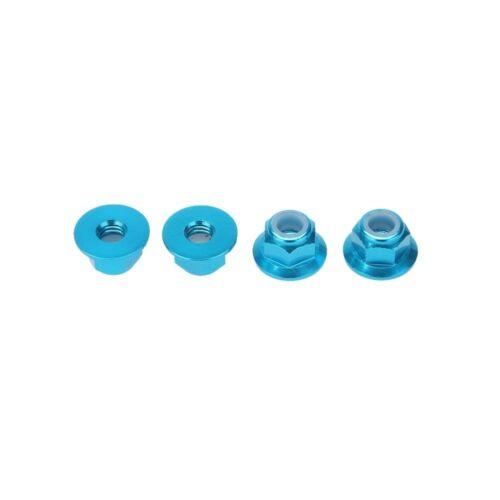 Radmutter für 1//10 RC CAR Nyloneinsatz Kontermuttern Schrauben Schrauben 4