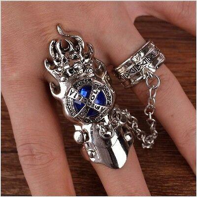 7pcs Anime Katekyo Hitman Reborn Vongola Metal Rings Cosplay Necklace Gifts New