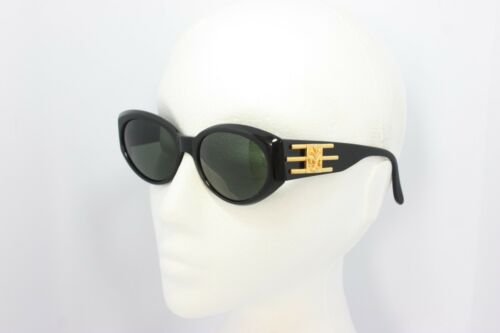 Maga Design Vintage Sunglasses Made in Italy 9527A 54mm NOS Gold Black Rare