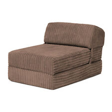 Item 7 Mocha Bjorn Jumbo Cord Single Chair Sofa Z Bed Seat Foam Fold Out Futon Guest
