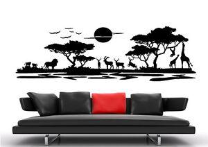 af08-WandTattoo-Wandsticker-Afrika-Landschaft-Tier-Giraffe-baum