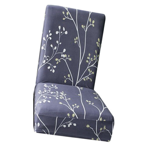 Removable Stretch Spandex Slipcover Short Dining Room Chair Seat Cover Décor