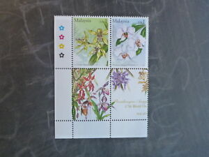 2002-MALAYSIA-17th-WORLD-ORCHID-CONF-BLK-4-DIFF-MINT-ORCHID-STAMPS-MNH-2