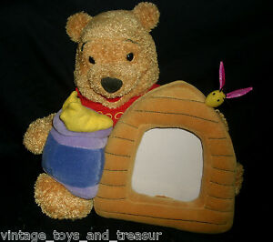 Winnie The Pooh Bee Hive Picture Frame Stuffed Animal Plush Disney