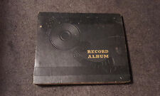 """Storage Book With 10 Sleeves for 10"""" Vinyl Record Album - Black Block Letters"""