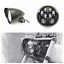 "5.75/"" matt black LED daymaker bullet headlight Harley DYNA WIDE GLIDE FXDWG FXR"