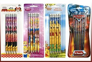 disney character led pencils pens and pencils princess cars