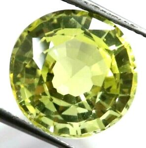 10.00 Ct Natural Yellow Sapphire Round Cut AGSL Certified Loose Gemstone