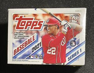 2021 Topps Baseball Series 1 Blaster Box - TOPPS Anniversary Patch in every box