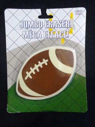 "Jumbo Eraser FOOTBALL 4.5/"" Brown White Party Favor Sports Fan"
