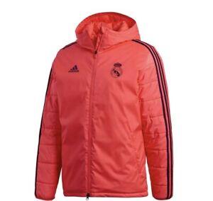 Credencial construcción Sí misma  Men's Real Madrid Adidas Ultimate Padded Winter Jacket Red / Pink UK Size  Large | eBay