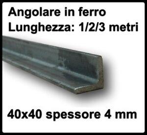 Staffe Angolari In Ferro Battuto.Angolare In Ferro 40x40 Spessore 4 Mm Barra Ad Angolo Profilo