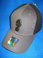 Kenworth Hat:  Fitted  Black / Grey / Liquid Metal Cap Free Shipping