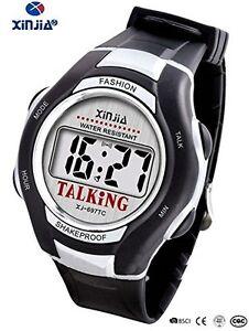 Orologio-Parlante-XJ-697Ti-Anziani-Bambini-Non-Vedenti-Riproduzione-Vocale-lac