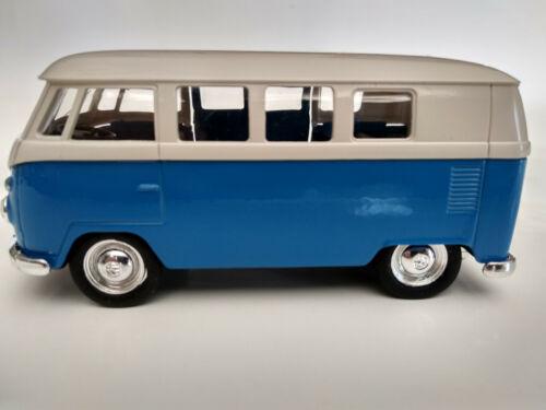 Volkswagen bus Combi T1 bleu et blanc 11,5cm neuf metal rétrofriction