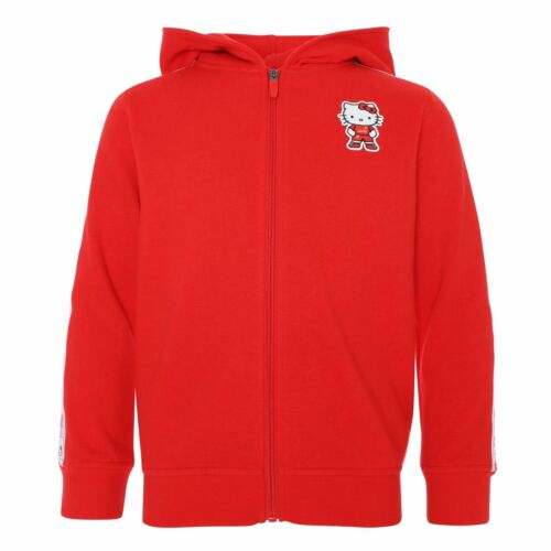 Liverpool FC Junior Hello Kitty Zip Through Hoody Red LFC Official