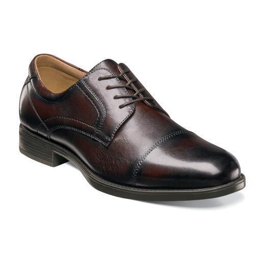 Florsheim Scarpe Midtown Cap Toe Oxford Brown Casual Leather 12138-200