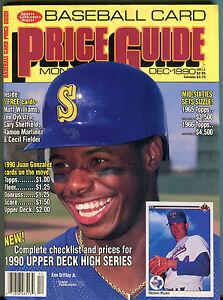 Details About Scd Baseball Card Price Guide December 1990 Ken Griffey Jr Ex 060216jhe