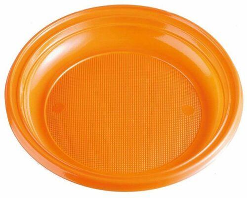 Teller Partyteller orange aus PS rund Ø 22 cm Halloween Party Feier BBQ Catering