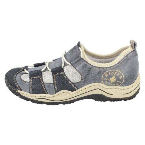 Chaussures Bleu Décontractées Rieker Synthétiques L0582 Femmes Pour qCrRBC
