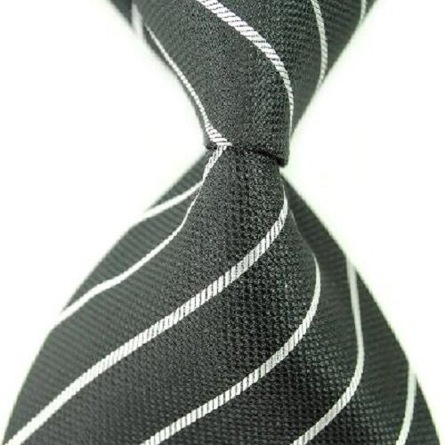 1 x quality mens jacquard silk tie wedding birthday business party black white