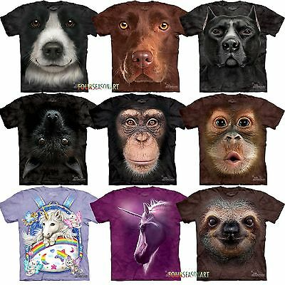 Mountain Big Animal Face Monkey Sloth Pitbul  Head YOUTH T-shirt 12 ON SALE!!!!